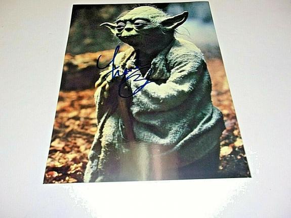 Frank Oz Star Wars,empire Strikes Back,yoda W/coa Signed 11x14 Photo