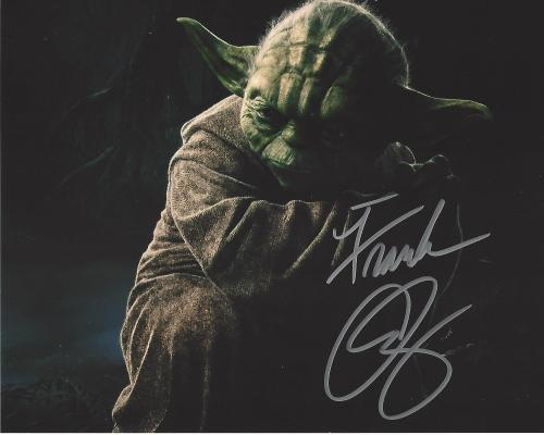"FRANK OZ the Voice of YODA in Each of the ""STAR WAR"" Films - Signed 10x8 Color Photo"