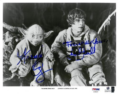 Frank Oz/Mark Hamill Signed Empire Strikes Back Auto 8x10 Promo PhotoPSA#AC06337