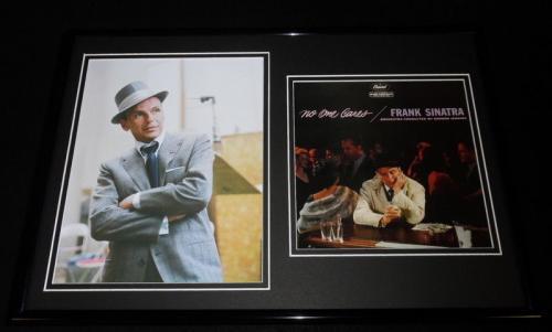Frank Sinatra 12x18 Framed Photo & No One Cares Photo Set