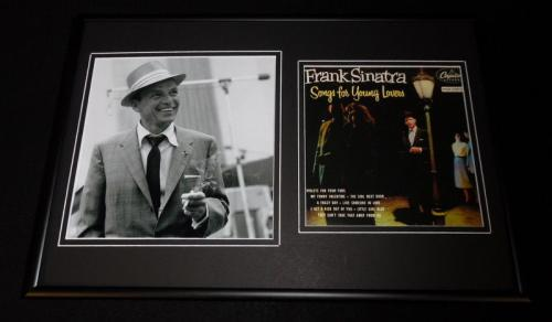 Frank Sinatra 12x18 Framed Smoking Photo Display Songs For Young Lovers