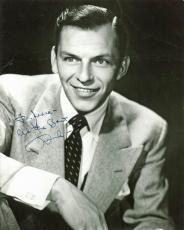 "Frank Sinatra ""All The Best"" Signed 7.25x9 B&W Photo JSA #Z39524"
