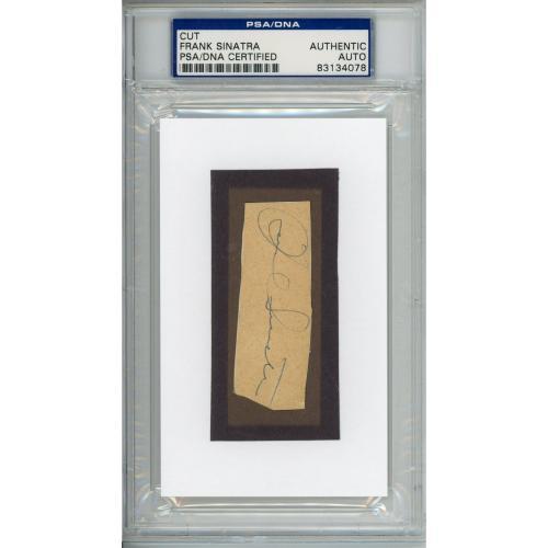 Frank Sinatra Autographed Cut Signature - PSA 83134078