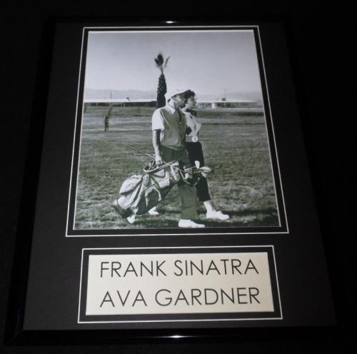 Frank Sinatra & Ava Gardner Golfing 11x14 Framed Photo Display