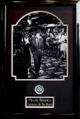 Frank Sinatra Chariman of the board 8x10 photo poker chip collage framed 16x24