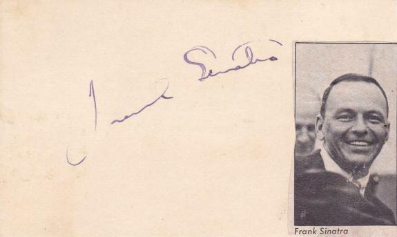 FRANK SINATRA d 1998 Signed 3x5 Index Card Singer/My Way JSA Z71053*