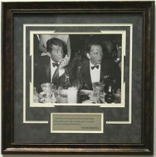 Frank Sinatra & Dean Martin 24x24 Framed Black & White Photo with Quote