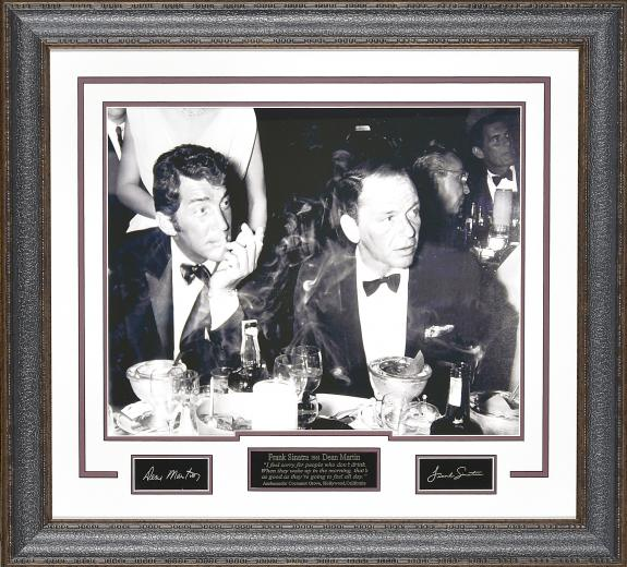 Frank Sinatra and Dean Martin Display. 30×27.