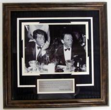 Frank Sinatra & Dean Martin Framed Black & White Photo with Quote