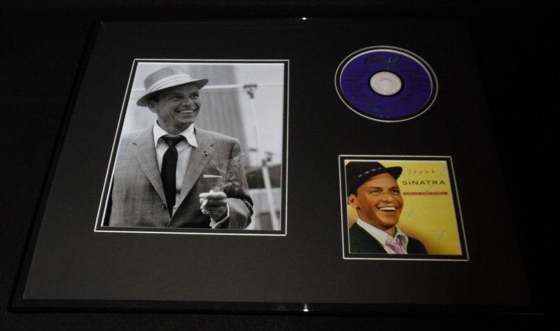 Frank Sinatra Framed 16x20 CD & Photo Display