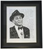 Frank Sinatra Framed 16x20 Word Art Photo