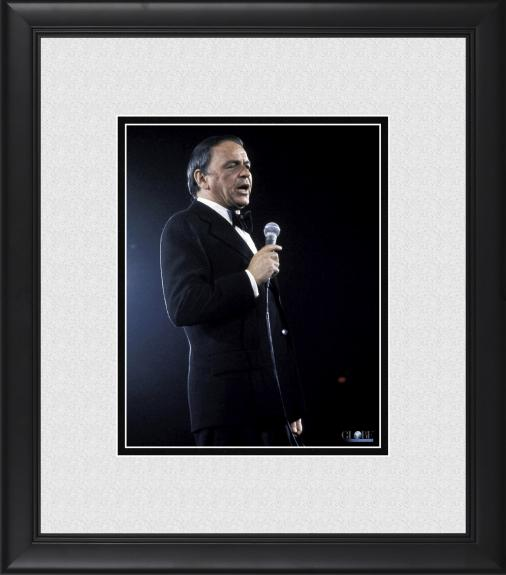 "Frank Sinatra Framed 8"" x 10"" Blue Background Photograph"