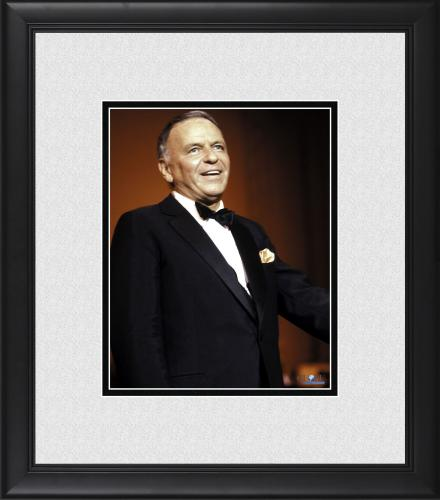 "Frank Sinatra Framed 8"" x 10"" Performing in Front of Red Photograph"