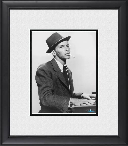 "Frank Sinatra Framed 8"" x 10"" Playing Piano & Smoking Photograph"