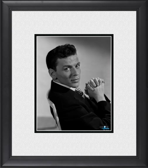 """Frank Sinatra Framed 8"""" x 10"""" Seated in Chair Photograph"""