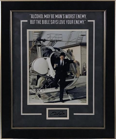 Frank Sinatra Framed Photo with Quote and Laser Signature