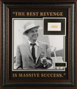 Frank Sinatra Frames Autographed Cut Piece with Photo - PSA/DNA