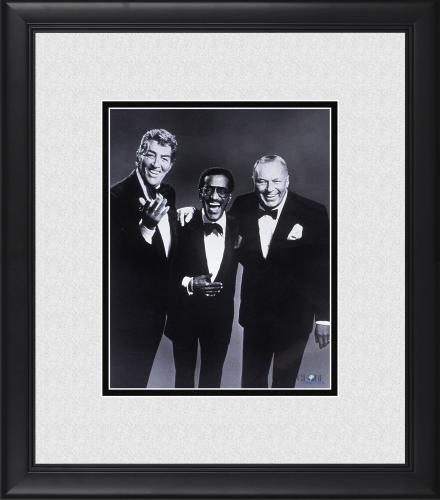 "Frank Sinatra, James Dean & Sammy Davis Jr. Framed 8"" x 10"" Photograph"