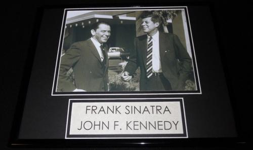 Frank Sinatra & JFK John F Kennedy Framed 11x14 Photo Display