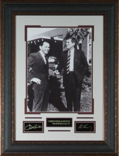 Frank Sinatra and JFK Laser Engraved 11x14 Signature Display