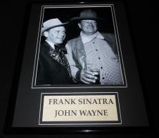 Frank Sinatra & John Wayne Framed 11x14 Photo Display