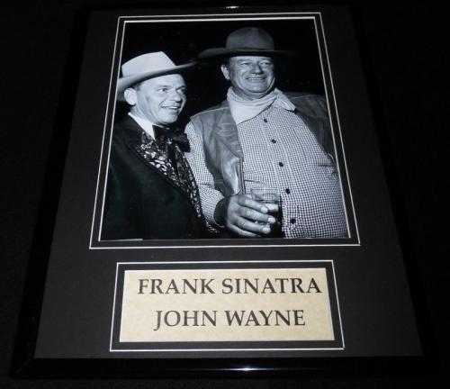 Frank Sinatra & John Wayne Framed 11x14 Photo Display