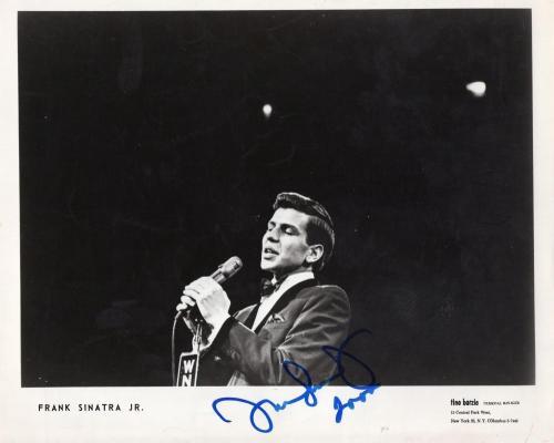 Frank Sinatra Jr. Deceased Singer Frank's Son Signed Autographed 8x10 Photo W/co