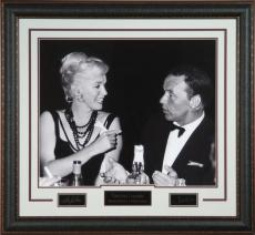 Frank Sinatra & Marilyn Monroe Laser Signed Framed Photo