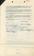 Frank Sinatra Signed 9 Page 1955 Contract Between Essex & Capitol Psa #w03042