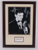 Frank Sinatra Signed Auto Autograph Framed Cut Signature w/ 11x14 Photo PSA/DNA
