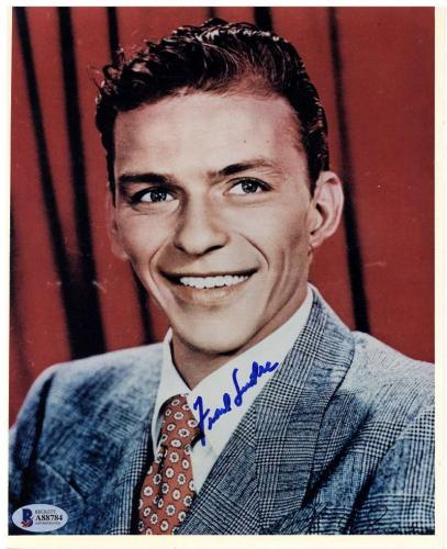 Frank Sinatra Signed Autographed 8x10 Color Photo Beckett BAS