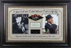 Frank Sinatra Signed & Framed 1.75x3.75 Cut Display JSA #Z02270
