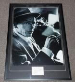 Frank Sinatra Signed Framed 28x39 Photo Poster Display JSA LOA