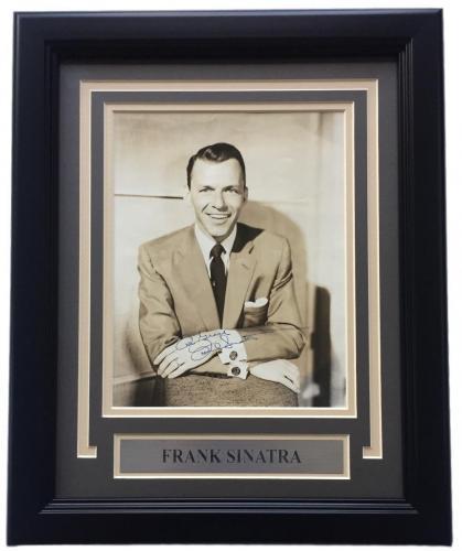 Frank Sinatra Signed Framed 8x10 Photo JSA LOA