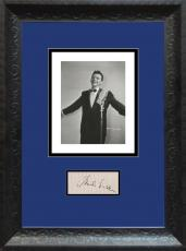 Frank Sinatra Signed & Framed Display. JSA