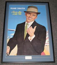 Frank Sinatra Signed Framed HUGE 28x39 Poster Display JSA LOA Love Inscription!