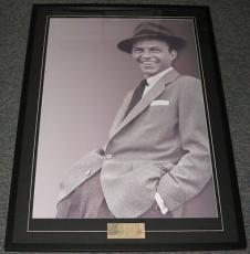 Frank Sinatra Signed Framed HUGE 29x41 Poster Display JSA LOA