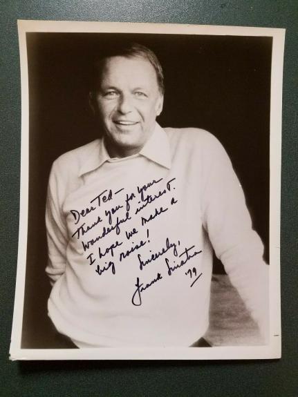 Frank Sinatra -signed photo-17G - JSA COA  & Mueller COA
