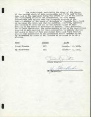 Frank Sinatra Signed Rare 1961 4 Page Document PSA/DNA #Y01275