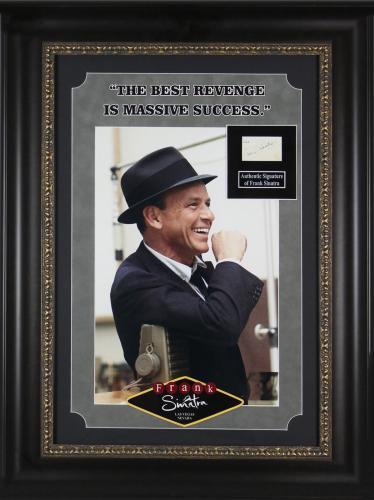 Frank Sinatra The Rat Pack Signed 1.5x2.75 Cut Signature BAS #A72823