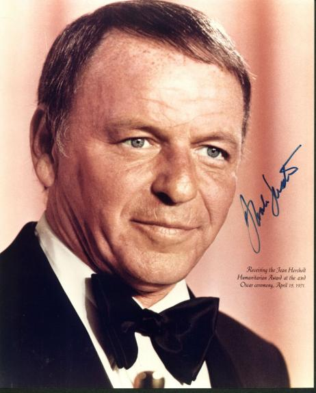 Frank Sinatra The Rat Pack Signed 8x10 Photo Autographed JSA #Z71875