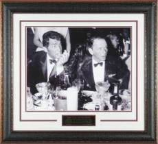Frank Sinatra unsigned Cocoanut Grove LA Drinking B&W 11X14 Photo Leather Framed w/ Dean Martin (entertainment)