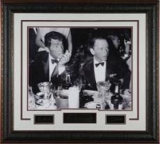 Frank Sinatra unsigned Cocoanut Grove LA Drinking Signature Series B&W 16x20 Photo Leather Framed w/ Dean Martin (entertainment)