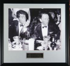 Frank Sinatra unsigned Cocoanut Grove LA Drinking Vintage B&W 8X10 Photo Black Custom Framed w/ Dean Martin (entertainment)