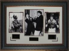 Frank Sinatra unsigned Engraved Signature Collection 22x33 Leather Framed vs Marciano