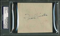 Frank Sinatra Vintage Signed Autographed 3x4 Album Page PSA/DNA Authentic