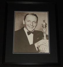 Frank Sinatra w/ 1955 Oscar Academy Award Framed 11x14 Photo Poster