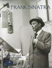 Frank Sinatra With Remnant Piece 8.5x10 Photo - Relic # 150