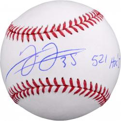 "Frank Thomas Chicago White Sox Autographed Baseball with ""521 HRS"" Inscription"