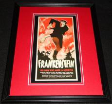 Frankenstein Framed 11x14 Poster Display Official Repro Boris Karloff Mae Clarke